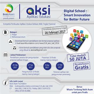 Lomba Aplikasi Edukasi Bukit Asam Foundation 2017
