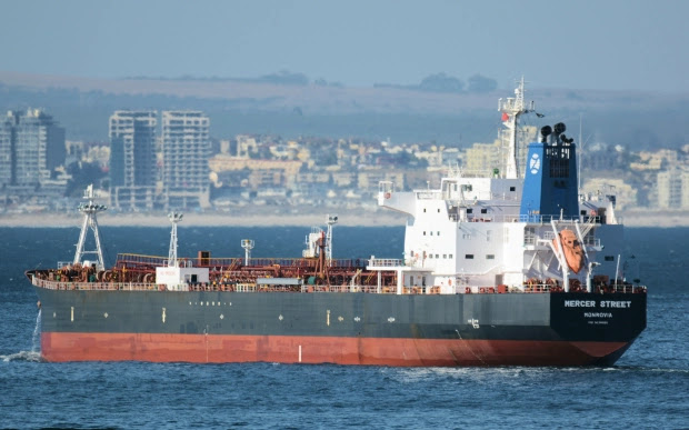 DRONE WAR Brit vet killed in 'Iranian Kamikaze drone' strike on Israeli billionaire's oil tanker off Oman