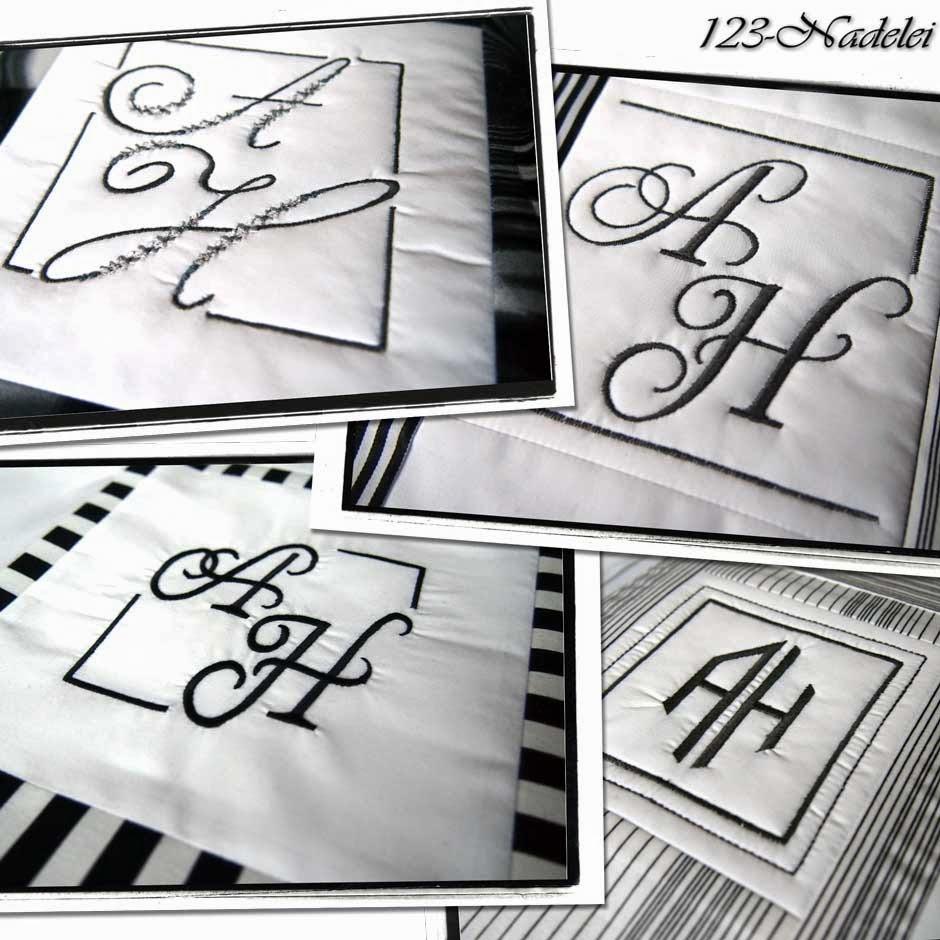 123-Nadelei: Monogramme und Vorlagen