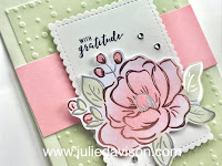 Stampin' Up! Sale-a-Bration 2020 Flowering Foils Rose Thank You Card ~ www.juliedavison.com #stampinup #saleabration
