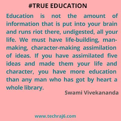 True Education quotes by Swami Vivekananda