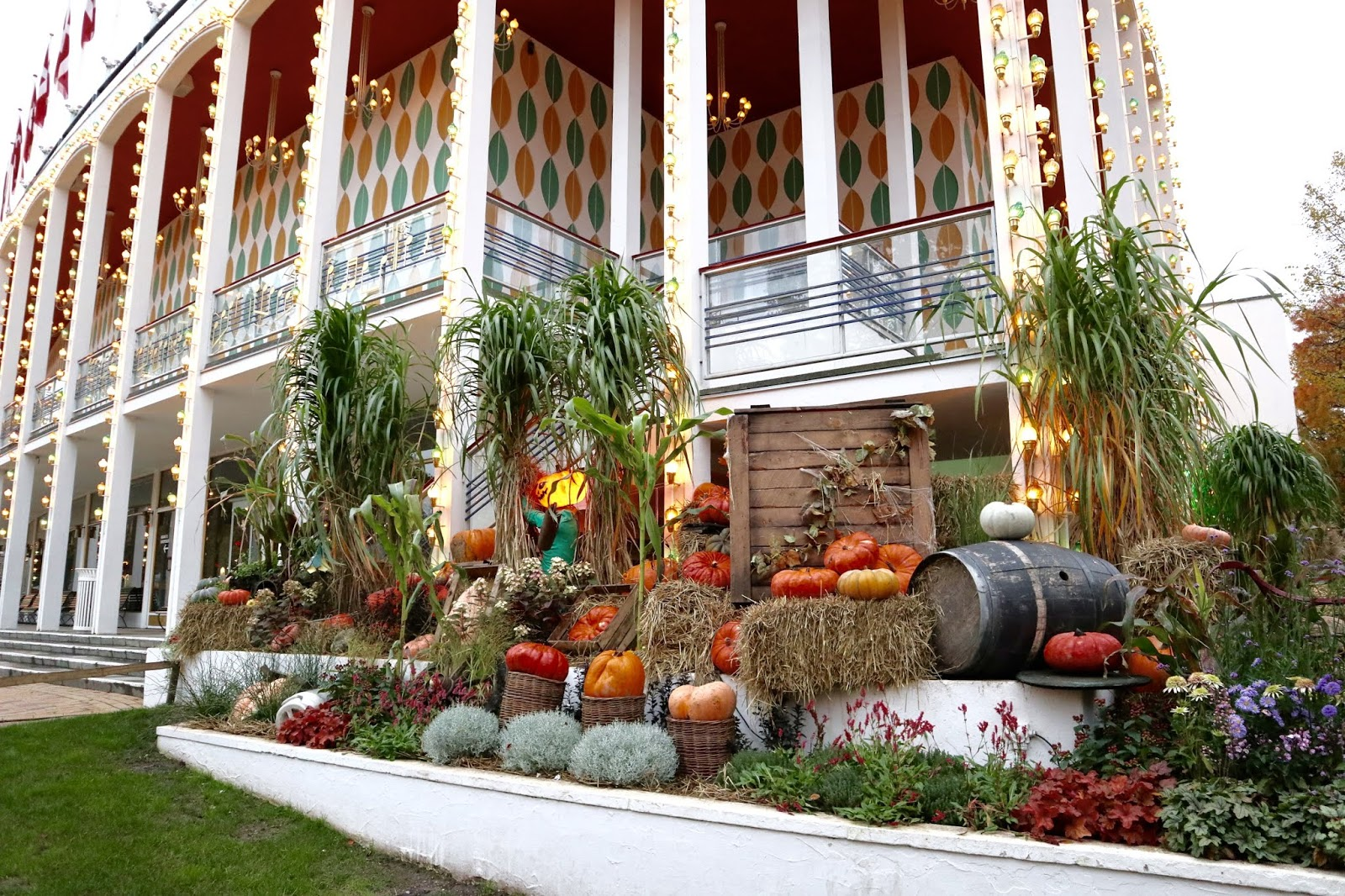 Halloween decorations at Tivoli Gardens