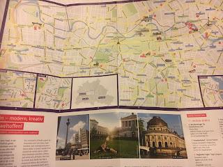 ベルリンミュージアムパスのマップ