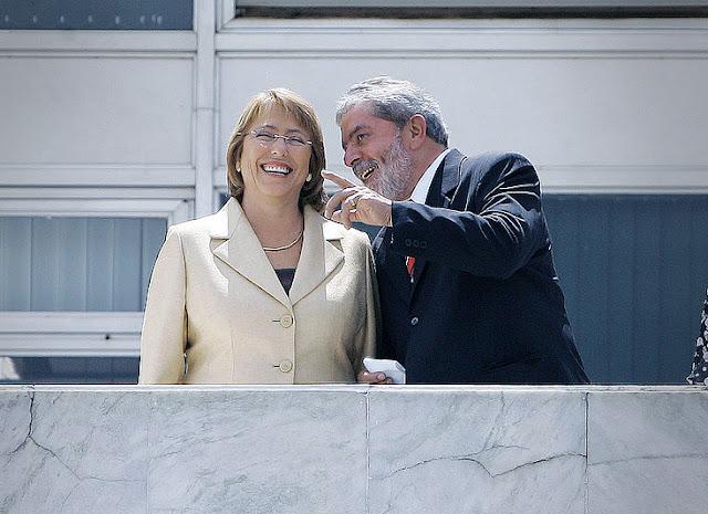 Lula e Michelle Bachelet - Wiki Commons