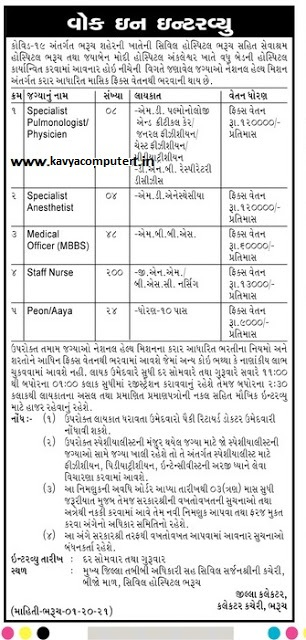 Civil Hospital, Bharuch Recruitment For 284 Staff Nurse