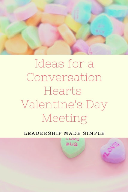 Ideas for a Conversation Hearts Valentine's Day Girl Scout Meeting