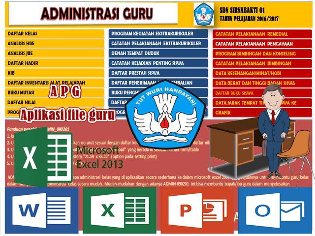 Aplikasi Lengkap Administrasi Guru Kelas SD