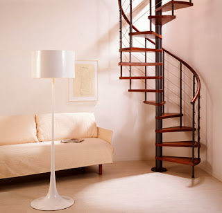 contoh gambar tangga putar/spiral