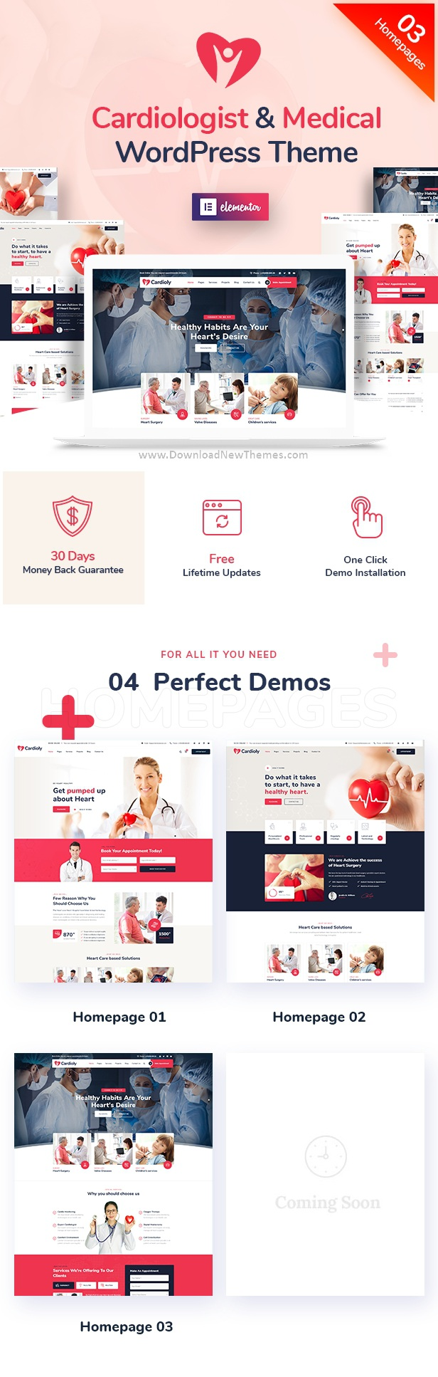 Cardiologist and Medical WordPress Theme