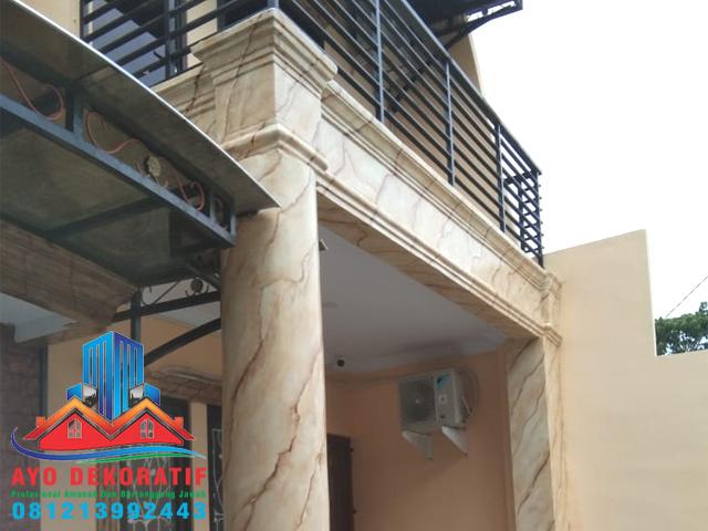 Jasa Cat Tembok Motif — Marmer Wash Paint
