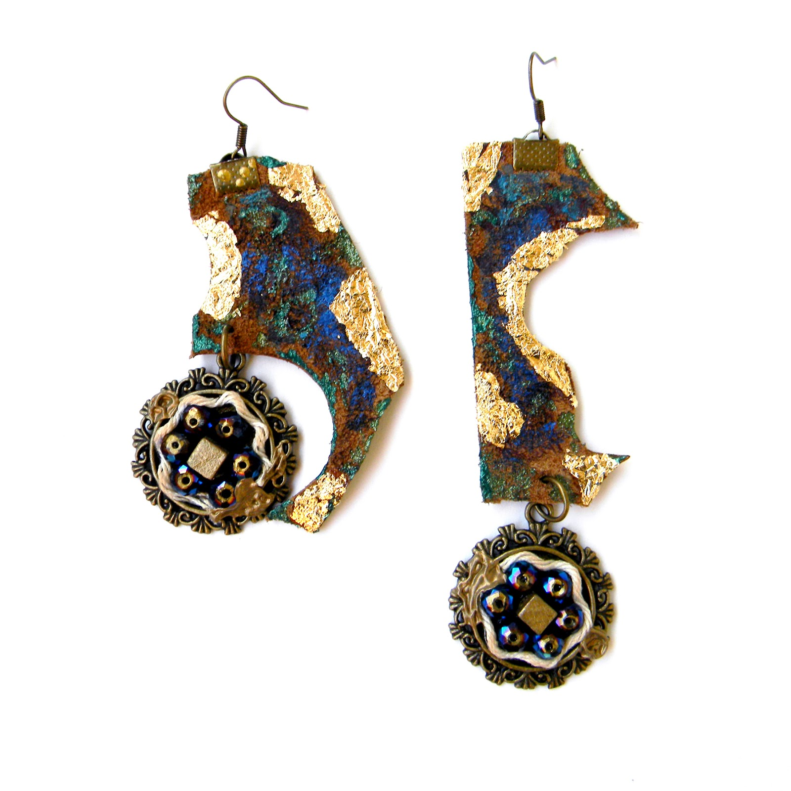 Unique Handmade Earrings Original Steampunk Fashion