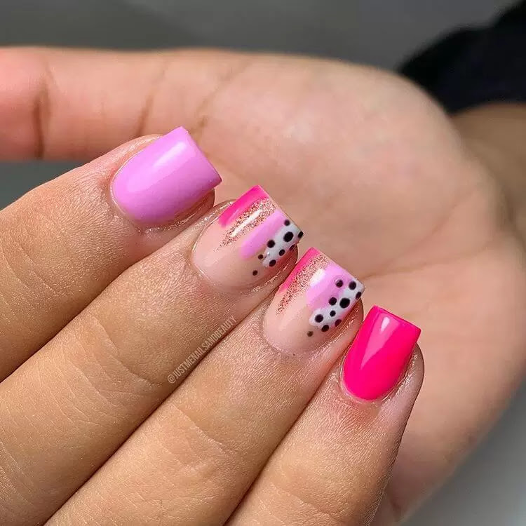 easy nail design for short nails