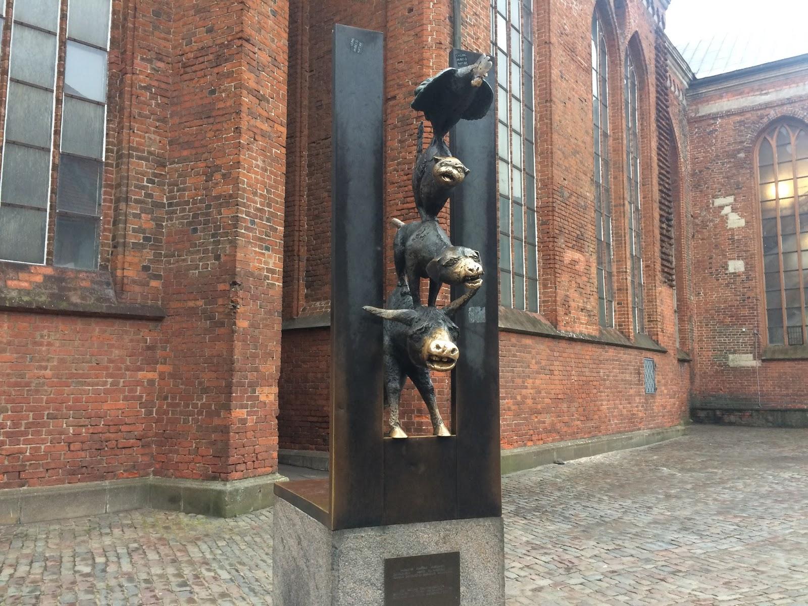 Image of Bremen Musicians Statue in Riga