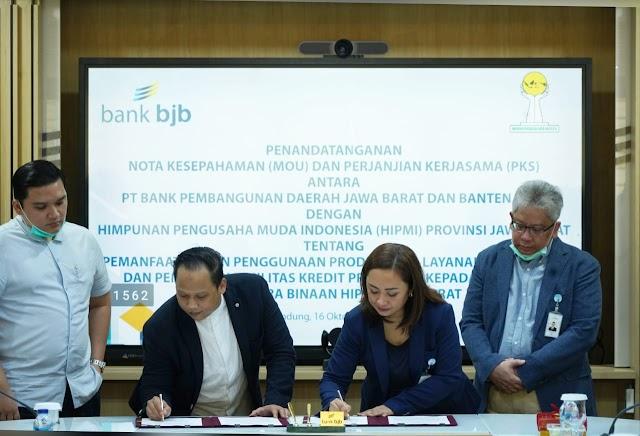 bank bjb Jalin Kesepakatan Kredit dengan HIPMI Jabar