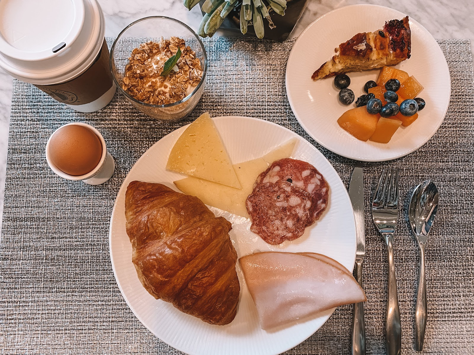 European Breakfast buffet at the AC Hotel by Marriott in Frisco, Texas