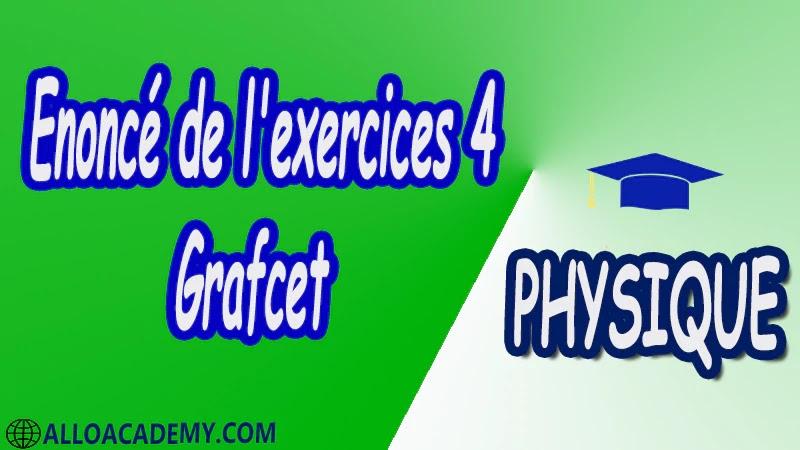 Exercices corrigés 4 Grafcet pdf