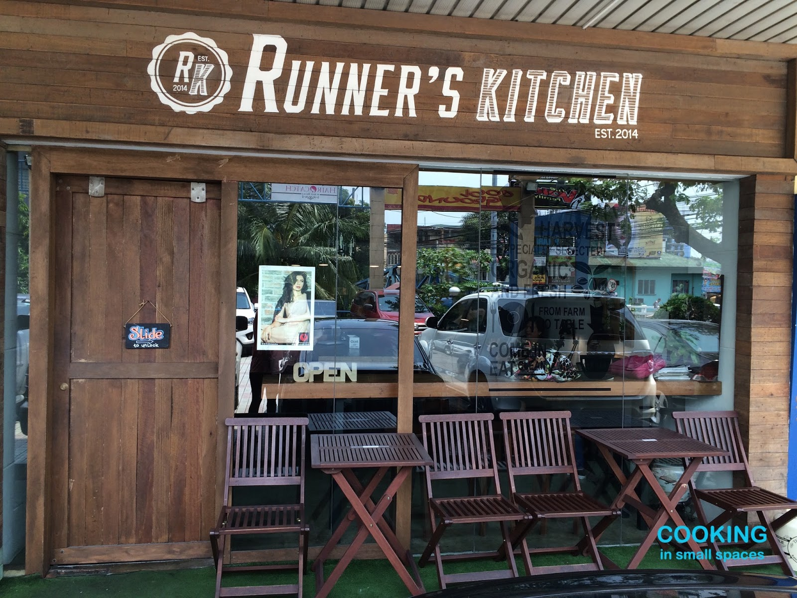 runners kitchen bakers racks for cooking in small spaces found runner s the earthiness of wooden fascia extends to its interiors which feels like a well appointed baguio b central table awaits big group or