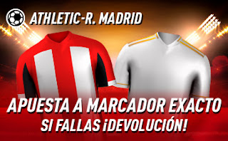 sportium Promo Athletic vs Real Madrid 5 julio 2020