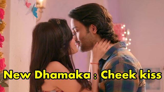 Big Dhamaka : Abeer Mishti's cheek kiss caught by Rajshri  in Yeh Rishtey Hai Pyaar Ke