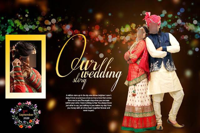 Wedding Album 12x18 PSD Cover Designs