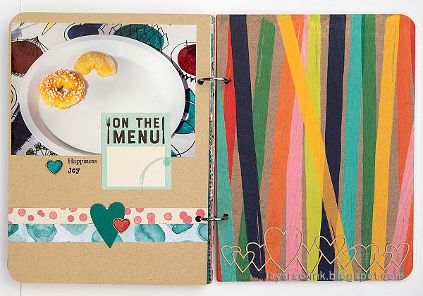 Layers of ink - Mini Album Tutorial by Anna-Karin Evaldsson.