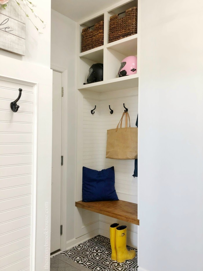 Mudroom Area Complete