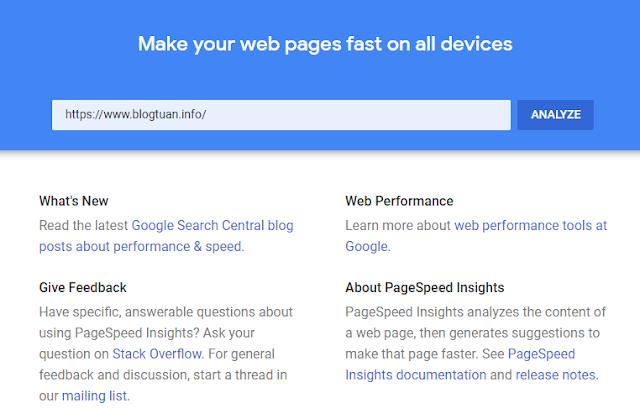 google speed analyze