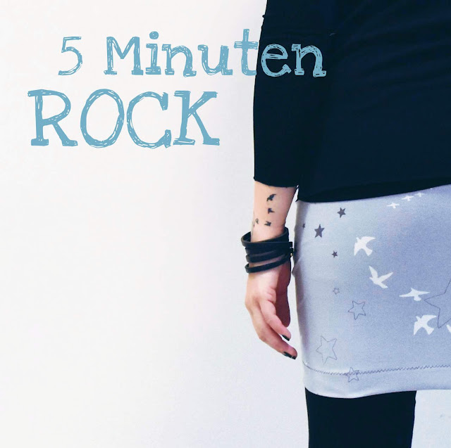 5 minuten rock, GrinseStern, Nähen lernen, DIY, selbermacher