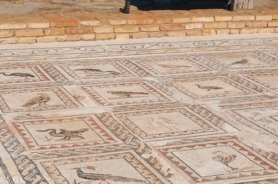 Mosaico de la casa de los Pájaros, Itálica, la ciudad romana de Sevilla