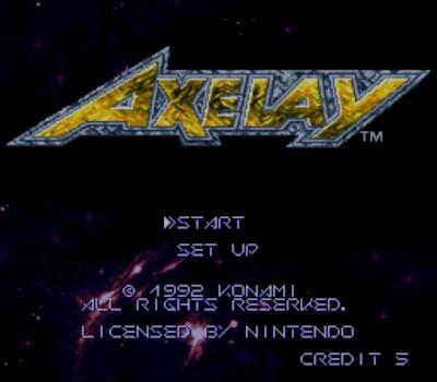 【SFC】銀河風暴(Axelay)原版+無限生命版,華麗的飛機射擊遊戲!