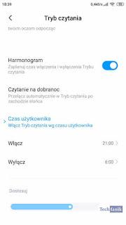 Tryb Czytania Harmonogram