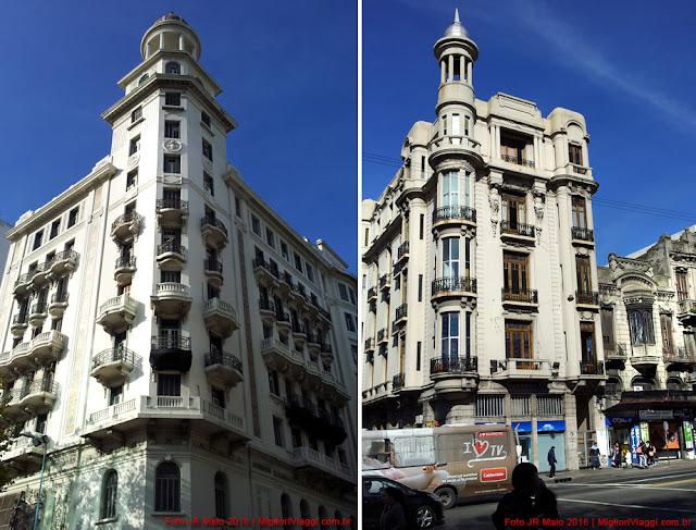 Edifícios em estilo eclético ou Beaux-arts | Av. 18 de Julio | Montevidéu
