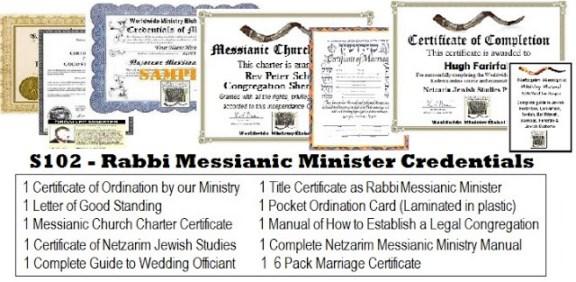 Messianic rabbi ordination