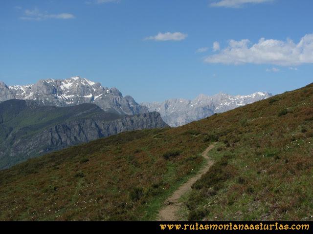 Transcantábrica Tarna-Ponga: De camino al Pontón con los picos de europa de frente