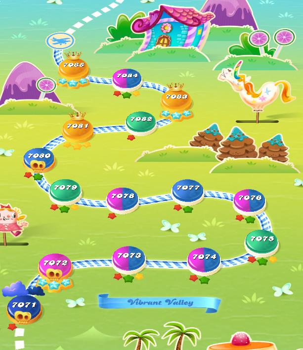 Candy Crush Saga level 7071-7085