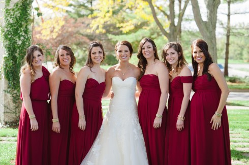 burgundy pleat maternity bridesmaid dresses