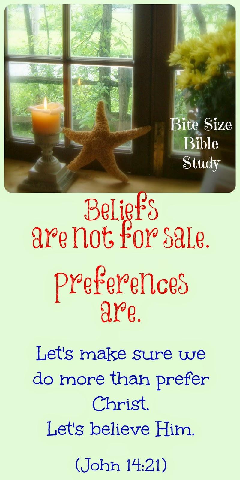 beliefs versus preferences, genuine belief in Christ, Mark Twain quote