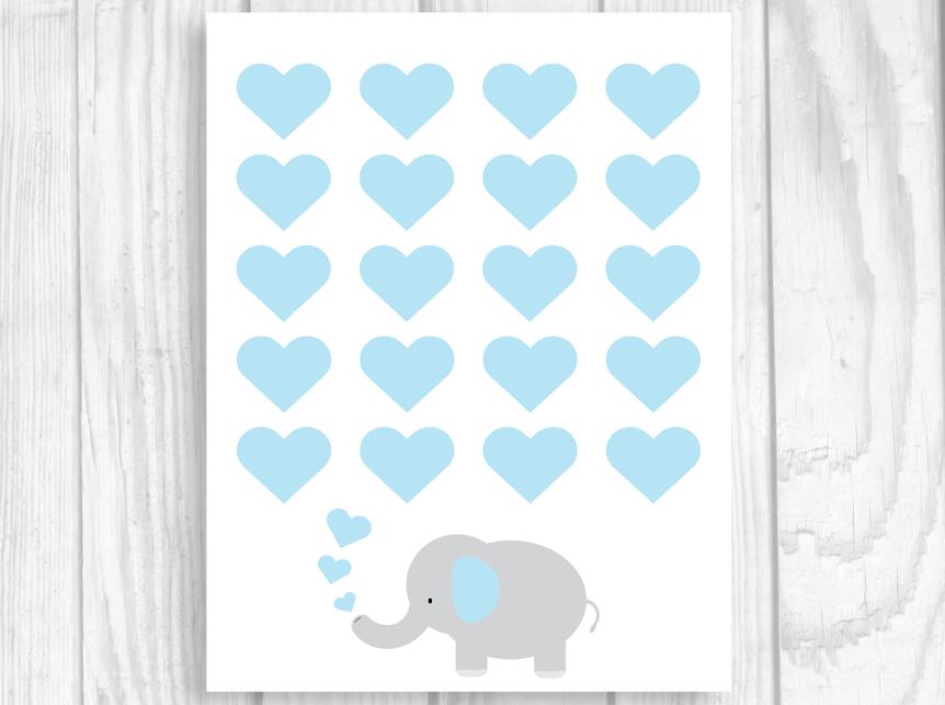 Weddings by Susan Printable 8x10 ElephantThemed Baby Shower