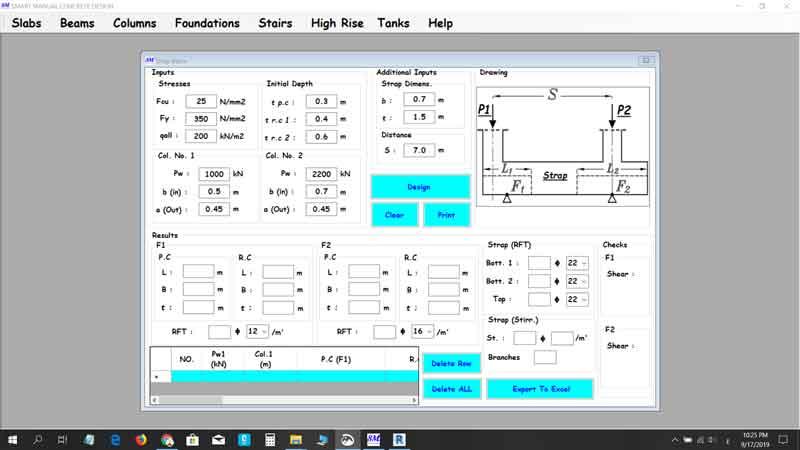 برنامج يصممم تقريبا كل العناصر الانشائية  Smart Manual Concrete Design Program