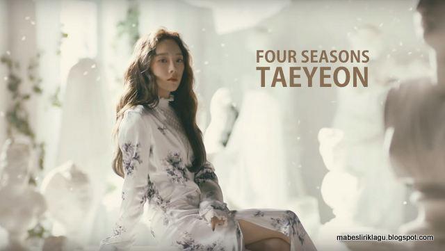 Lirik Taeyeon - Four Seasons artinya