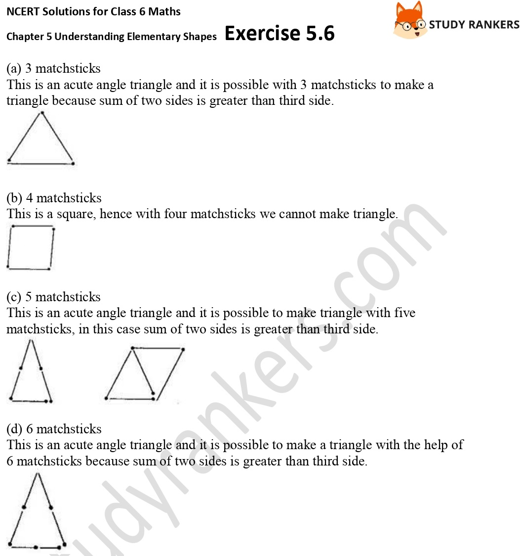NCERT Solutions for Class 6 Maths Chapter 5 Understanding Elementary Shapes Exercise 5.6 Part 3