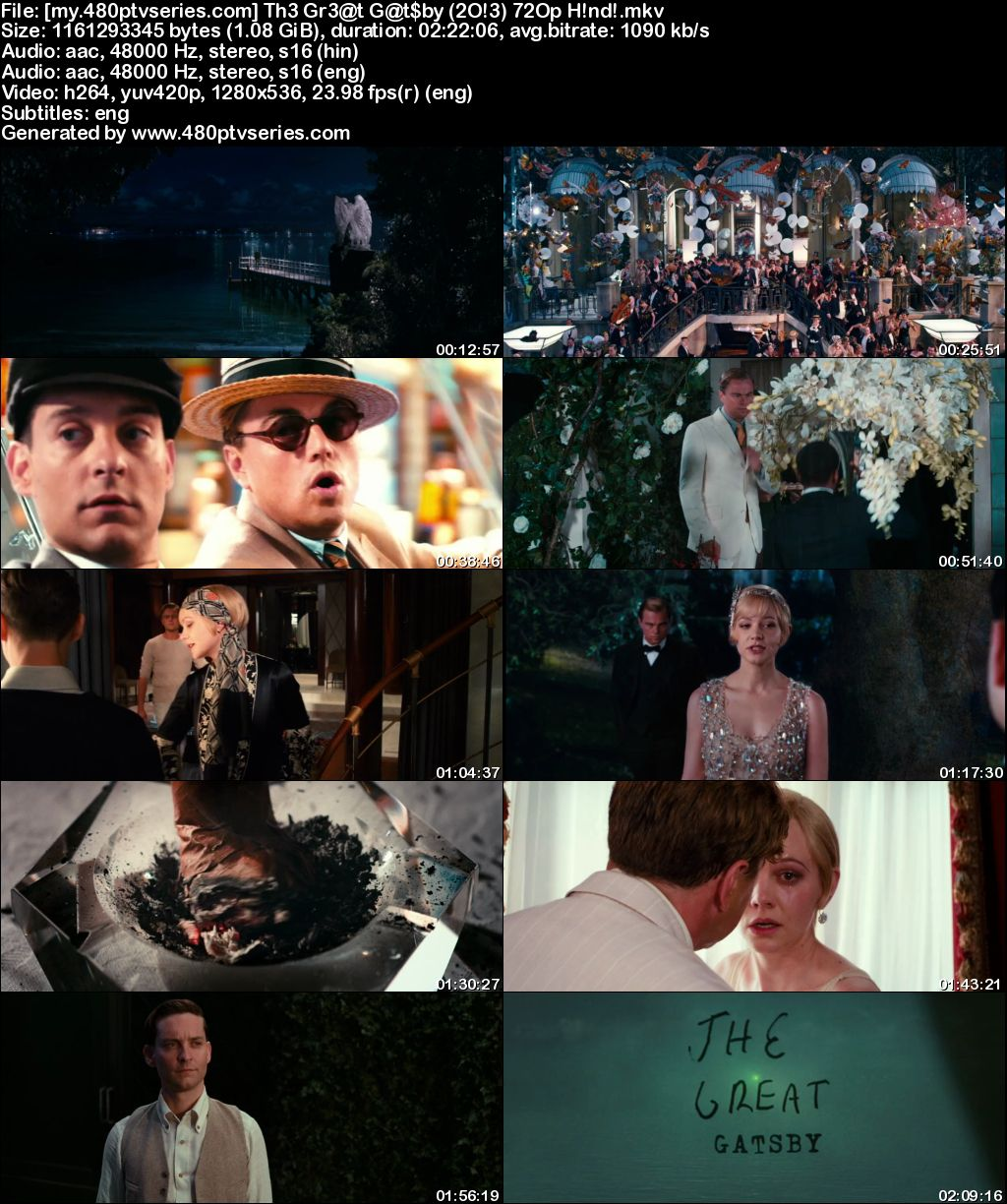 Watch Online Free The Great Gatsby (2013) Full Hindi Dual Audio Movie Download 480p 720p Bluray