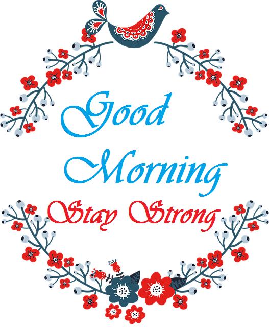 Beautiful good morning bird with flowers image