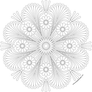 Happy mandala to print and color- available in jpg and transparent PNG