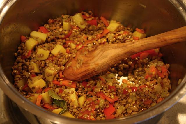 lentejas con verduras receta facil