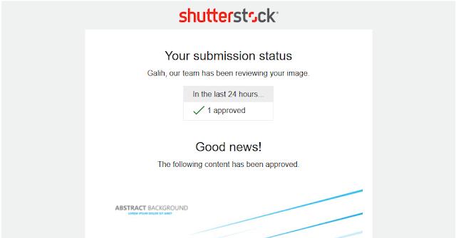 desain atau foto kalian sudah diterima shutterstock
