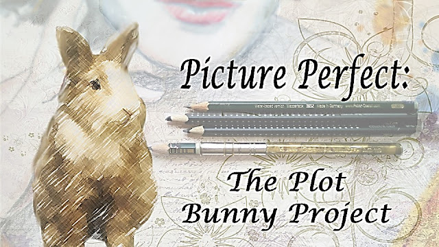 The title graphic, a sketch of a brown and white bunny in front of a partial drawing of a woman, with drawing pencils