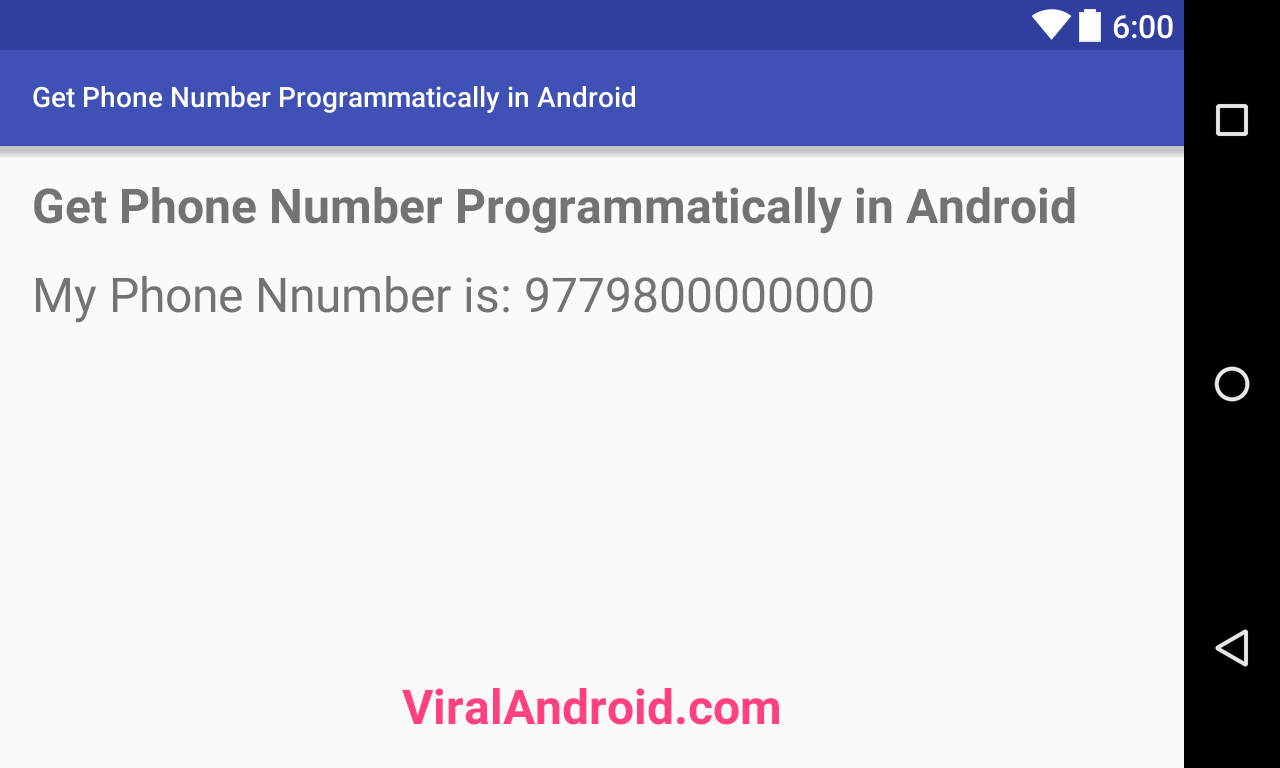 How to Get the Phone Number Programmatically in Android