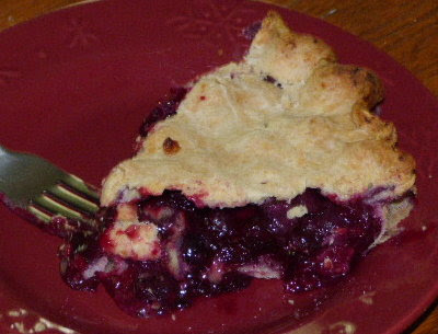 July is blueberry time with pie to prove it.