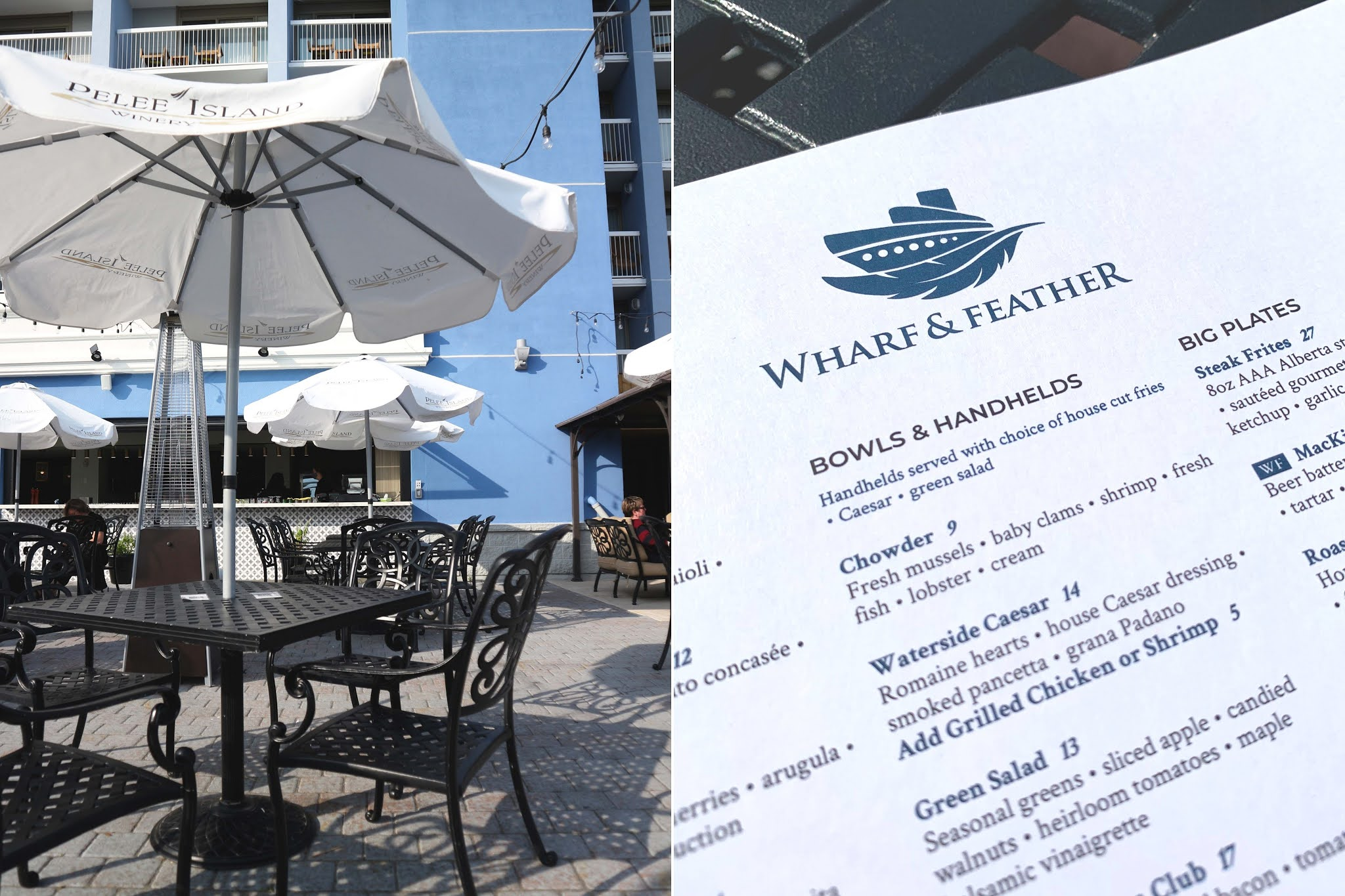Wharf & Feather Restaurant and Patio in downtown Kingston - Holiday Inn Waterfront